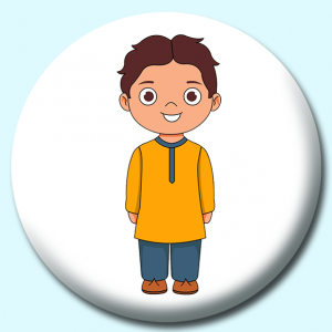 Personalised Badge: 25mm Man In Pakistan Costume Button Badge. Create your own custom badge - complete the form and we will create your personalised button badge for you.