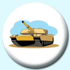 Personalised Badge: 75mm Military Amrored Personnel Carriers Button Badge. Create your own custom badge - complete the form and we will create your personalised button badge for you.