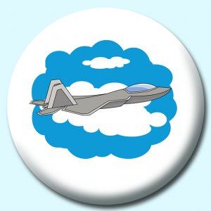 Personalised Badge: 38mm Military Jet Plane Button Badge. Create your own custom badge - complete the form and we will create your personalised button badge for you.