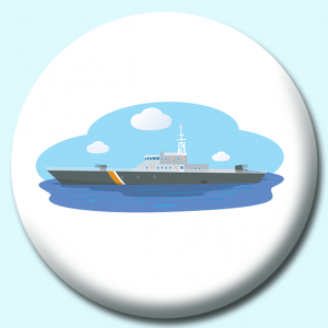 Personalised Badge: 75mm Military Vessel Button Badge. Create your own custom badge - complete the form and we will create your personalised button badge for you.