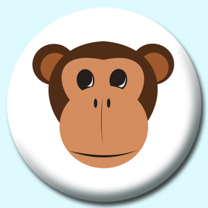 Personalised Badge: 58mm Monkey Button Badge. Create your own custom badge - complete the form and we will create your personalised button badge for you.