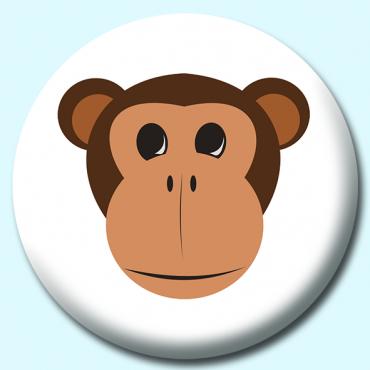 58mm Monkey Button...