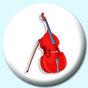 Personalised Badge: 38mm Music Instruments Double Bass Button Badge. Create your own custom badge - complete the form and we will create your personalised button badge for you.