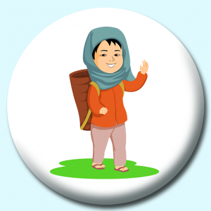 Personalised Badge: 58mm Nepalese Boy Button Badge. Create your own custom badge - complete the form and we will create your personalised button badge for you.