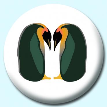 75mm Penguins Button...