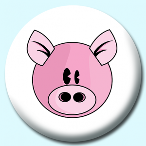 Personalised Badge: 58mm Pig Button Badge. Create your own custom badge - complete the form and we will create your personalised button badge for you.