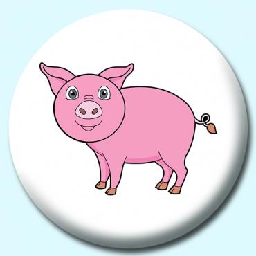38mm Pink Pig...