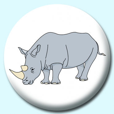 38mm Rhinoceros Button...