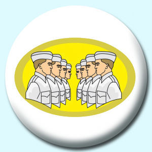 Personalised Badge: 58mm Sailors Button Badge. Create your own custom badge - complete the form and we will create your personalised button badge for you.