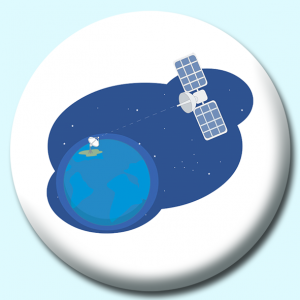 Personalised Badge: 75mm Satelite Button Badge. Create your own custom badge - complete the form and we will create your personalised button badge for you.