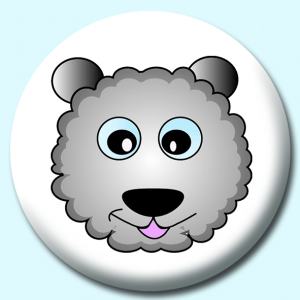 Personalised Badge: 58mm Sheep Button Badge. Create your own custom badge - complete the form and we will create your personalised button badge for you.