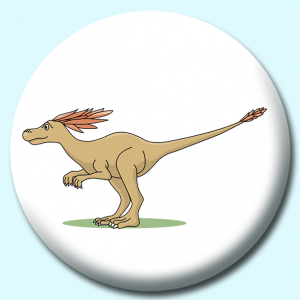 Personalised Badge: 58mm Syntarsus Button Badge. Create your own custom badge - complete the form and we will create your personalised button badge for you.