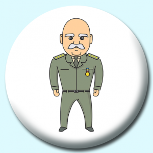 Personalised Badge: 75mm Us Military Man Button Badge. Create your own custom badge - complete the form and we will create your personalised button badge for you.