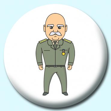 25mm Us Military Man Button Badge | Badge Boy Custom Badges UK