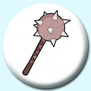 Personalised Badge: 75mm Viking Weapon Button Badge. Create your own custom badge - complete the form and we will create your personalised button badge for you.